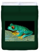 Red Eye Tree Frog Duvet Cover