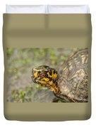 Red Eyed Alabama Box Turtle - Terrapene Carolina Duvet Cover