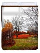 Red Field Autumn Duvet Cover