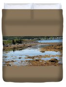 Red Flat At Low Tide Duvet Cover