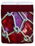 Red Float Duvet Cover