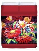 Red Floral Mishmash Duvet Cover