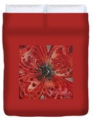 Red Flower 1 - Vibrant Red Floral Art Duvet Cover by Sharon Cummings