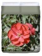 Red Flower II Duvet Cover
