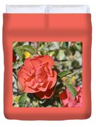 Red Flower IIi Duvet Cover