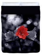 Red Flower Petals Duvet Cover