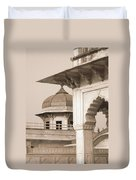 Red Fort Duvet Cover