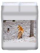 Red Fox Egg Thief Duvet Cover