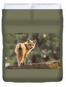 Red Fox In The Sunset Duvet Cover