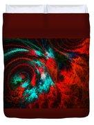 Red Fury Duvet Cover