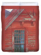 Red Gable Window Duvet Cover