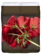 Red Geranium In Progress Duvet Cover
