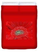 Red Gerbera Flower  Duvet Cover