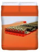 Red Giutar Duvet Cover