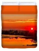 Red Glow Duvet Cover by Robert Bales