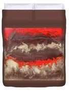 Red Gold And Brown Abstract Duvet Cover