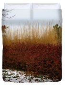 Red Gold Hedge Duvet Cover