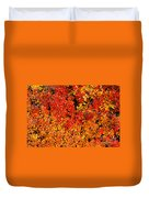 Red-golden Alpine Shrubs Duvet Cover