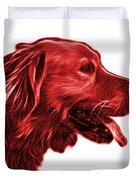 Red Golden Retriever - 4047 Fs Duvet Cover