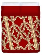 Gothic Pattern On Red Duvet Cover