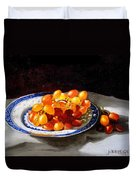 Red Grapes On Chinese Dsh Duvet Cover