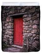 Red Grist Mill Door Duvet Cover