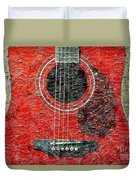 Red Guitar Center - Digital Painting - Music Duvet Cover