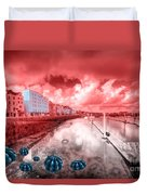 Red Harbouring  Duvet Cover