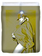 Red Hat And Trenchcoat Duvet Cover