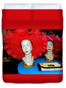 Red Hats Duvet Cover