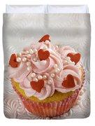 Valentine Cupcakes  Duvet Cover