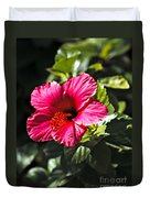 Red Hibiscus Duvet Cover by Robert Bales