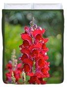 Red Snapdragon Duvet Cover