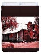 Red Homestead Garden Duvet Cover