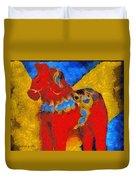 Red Horse Duvet Cover