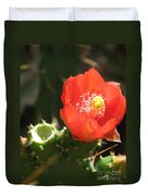 Hot Red Cactus Duvet Cover