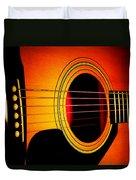 Red Hot Guitar Duvet Cover