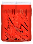 Red Hot Lava Flowing Down Duvet Cover