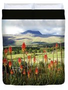 Red Hot Pokers Of The Andes Duvet Cover