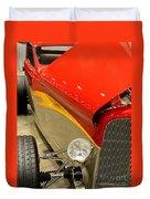 Street Car - Red Hot Rod Duvet Cover