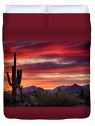 Red Hot Sonoran Sunset Duvet Cover