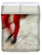 Red Hot Walking Duvet Cover