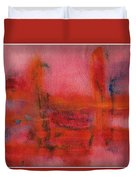 Red Hot Watercolor Duvet Cover