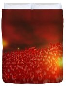 Red Ice Mountain Duvet Cover
