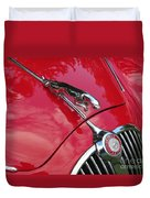 Red Jaguar 3.8 Duvet Cover