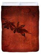 Red Japanese Maple On Red Duvet Cover