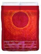 Red Kachina Original Painting Duvet Cover