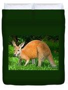 Red Kangaroo Duvet Cover