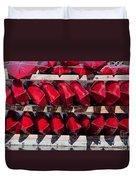 Red Kayaks Duvet Cover