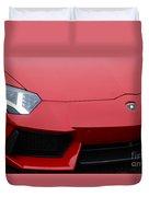 Red Lamborghini Duvet Cover